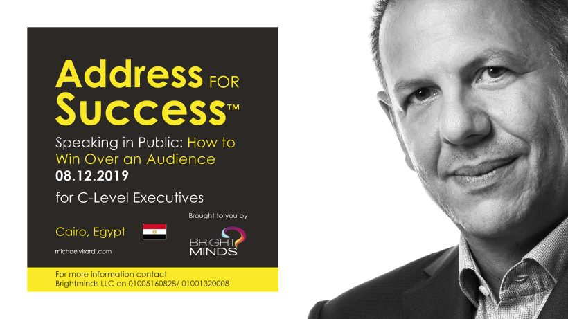 Michael Virardi in Cairo for ADDRESS FOR SUCCESS workshop